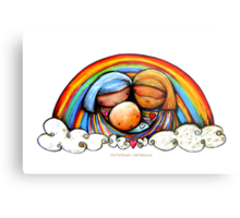 Christmas Rainbows Nativity  Metal Print