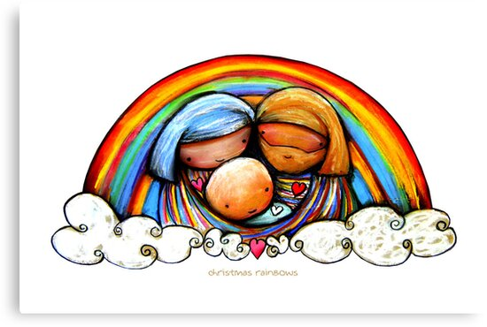 Christmas Rainbows Nativity  by © Karin Taylor