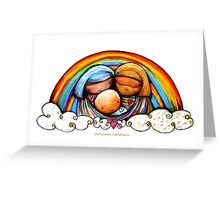 Christmas Rainbows Nativity  Greeting Card