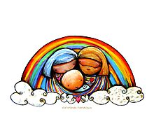 Christmas Rainbows Nativity  Photographic Print
