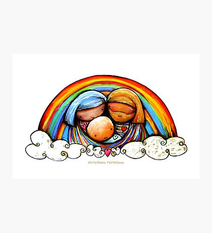 Christmas Rainbows Nativity  Photographic Print