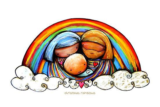Christmas Rainbows Nativity  by © Karin Taylor