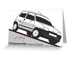 Fiat Cinquecento by Giugiaro Greeting Card