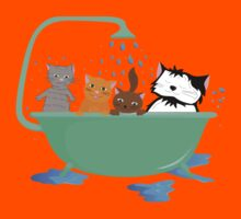 Cats in bath Kids Clothes