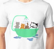 Cats in bath Unisex T-Shirt