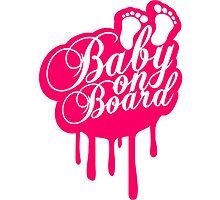 Baby On Board Girl Graffiti Stamp by Style-O-Mat