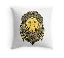 Leo astrological sign. Hand drawn illustration. Throw Pillow