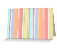 Pastel Stripes Greeting Card