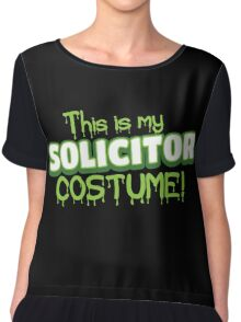 This is my solicitor costume (Halloween) Chiffon Top