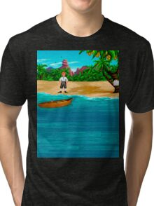 MONKEY ISLAND BEACH Tri-blend T-Shirt