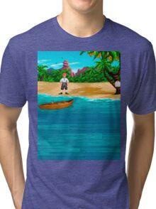 MONKEY ISLAND BEACH Tri-blend T-Shirt