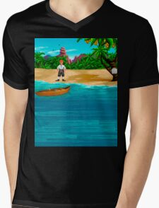 MONKEY ISLAND BEACH Mens V-Neck T-Shirt