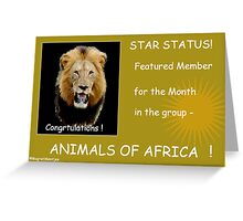 FEATURED MEMBER BANNER Greeting Card