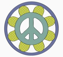Peace Sign Pattern One Piece - Long Sleeve