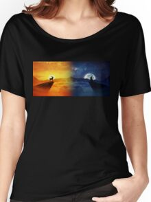 day vs night Women's Relaxed Fit T-Shirt