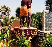 Statue Commemorating the Survivors of Slavery - Print by WonderMeMosaics