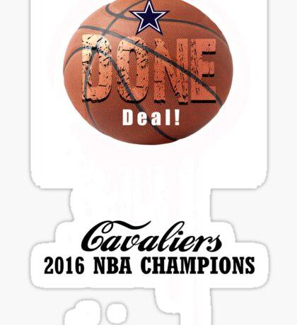 cleveland done deal Sticker