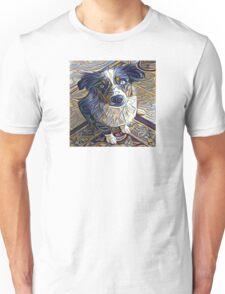 Abstract Sheep Dog Design Unisex T-Shirt
