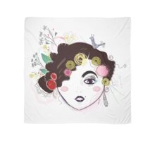 Frida Inspired Art. Original fashion Artwork Illustration Scarf