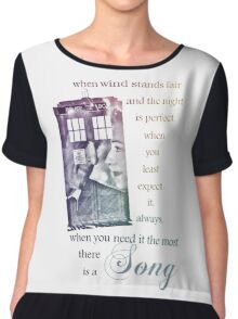 There is a Song, Doctor Who, Husbands of River Song Chiffon Top