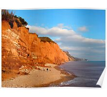 The Red cliffs of Sidmouth Poster