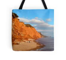 The Red cliffs of Sidmouth Tote Bag