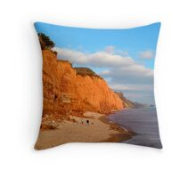 The Red cliffs of Sidmouth Throw Pillow