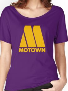 MOTOWN DISCO RECORDS (YELLOW) Women's Relaxed Fit T-Shirt