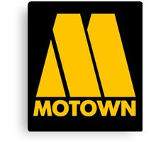 MOTOWN DISCO RECORDS (YELLOW) Canvas Print