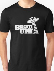 Beam me up V.3.2 (white) Unisex T-Shirt