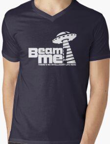 Beam me up V.3.2 (white) Mens V-Neck T-Shirt
