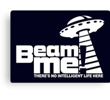Beam me up V.3.2 (white) Canvas Print