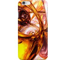 Golden Maelstrom Abstract iPhone Case/Skin