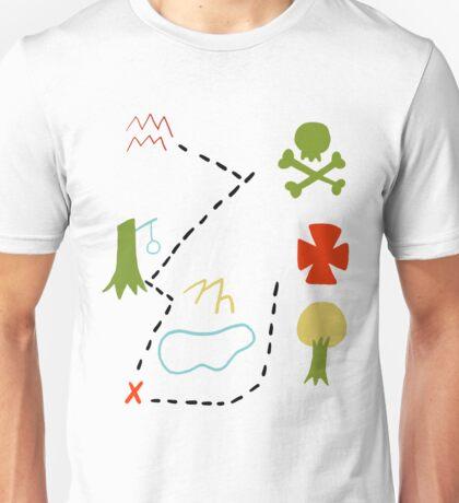 Peter Pan Map Unisex T-Shirt