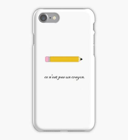 ce n'est pas un crayon. iPhone Case/Skin