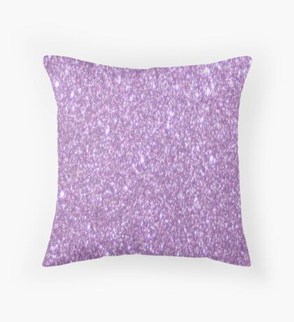 Lilac Glitter Throw Pillow