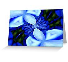 Blue Vortex Greeting Card