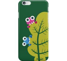 Cute Bugs Eat Green Leaf iPhone Case/Skin