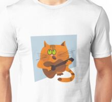 Cat playing guitar Unisex T-Shirt