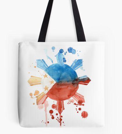 Philippine Flag Inspired Art Tote Bag