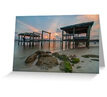 Dock at Sunset - St. George Island Greeting Card