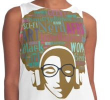 Afro Girl Nerd Contrast Tank