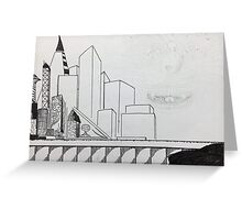 Empty Skyline Greeting Card