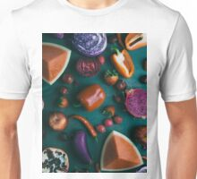 Red food on dark green Unisex T-Shirt