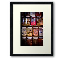 Spice Rack Framed Print
