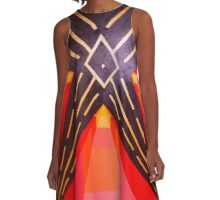 Fusion in Confusion A-Line Dress