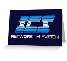 ICS NETWORK TELEVISION - THE RUNNING MAN MOVIE Greeting Card