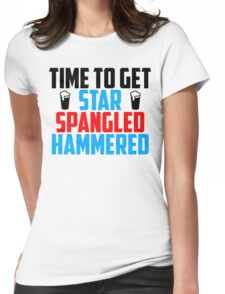 Get Star Spangled Hammered Womens Fitted T-Shirt