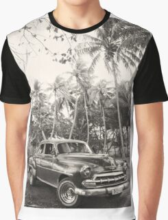 Oldtimer in Cuba Graphic T-Shirt