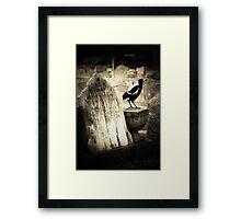Life in the Graveyard. Framed Print